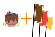 ケーキの宣伝